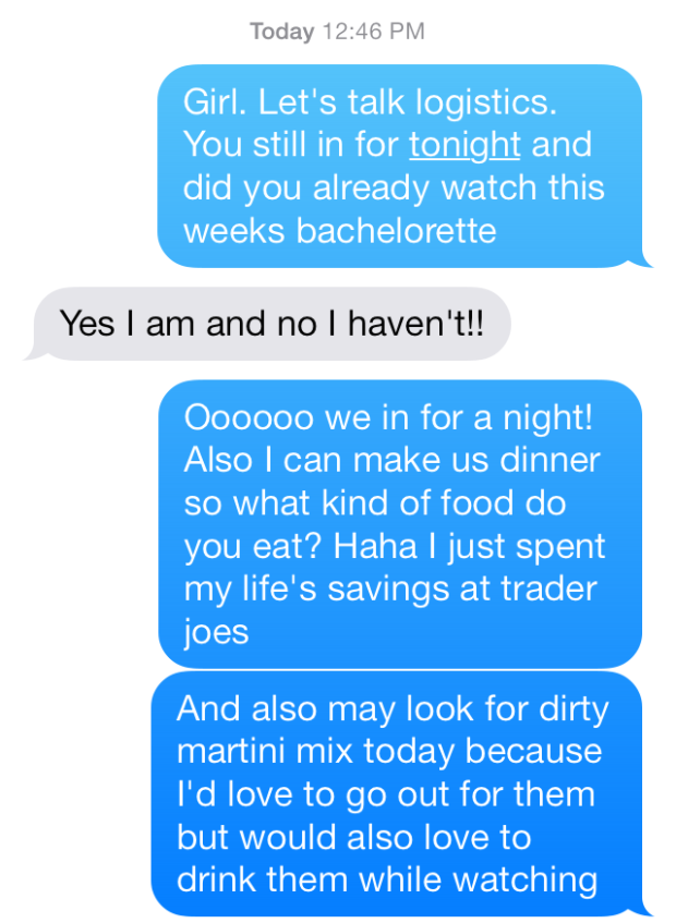 bachelorette and martinis