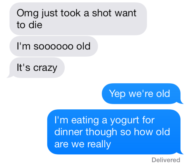 drinking aging