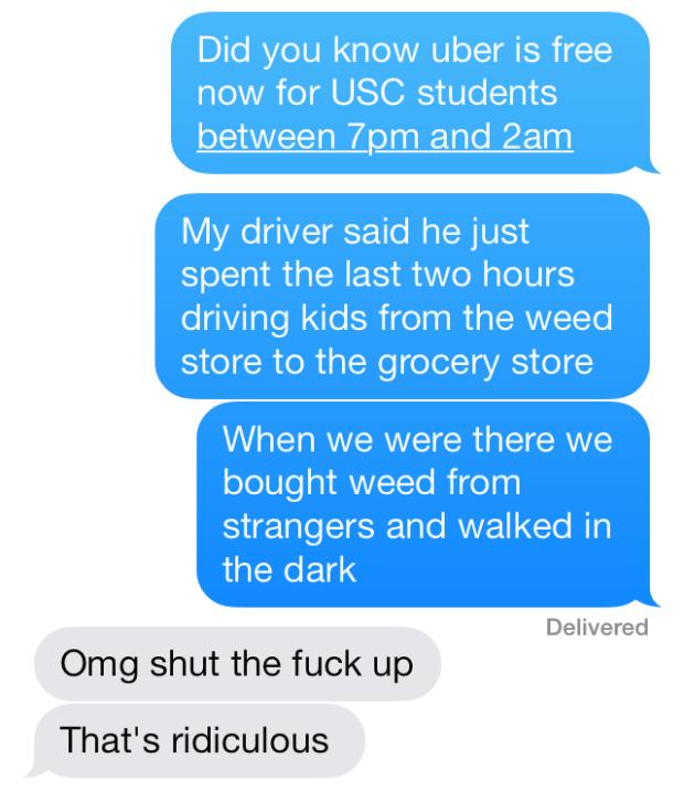 usc free uber