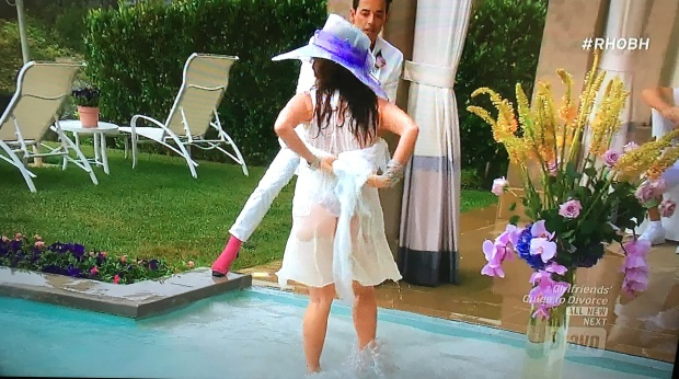 lisa vanderpump pool birthday thong