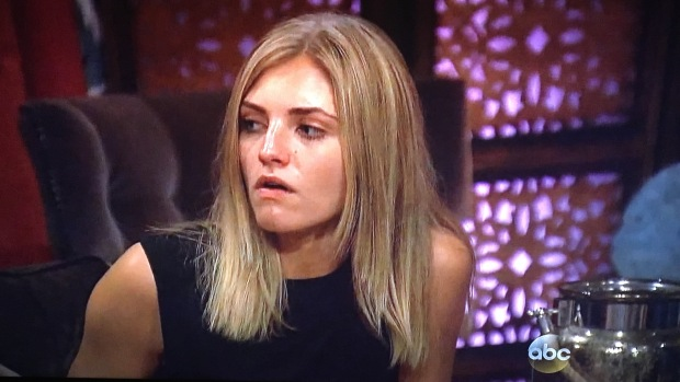 olivia the bachelor angry face