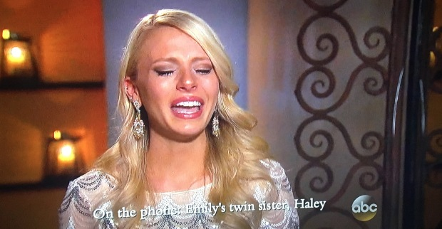 emily crying bachelor