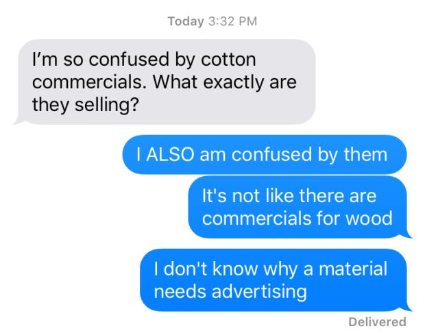 cotton commercials