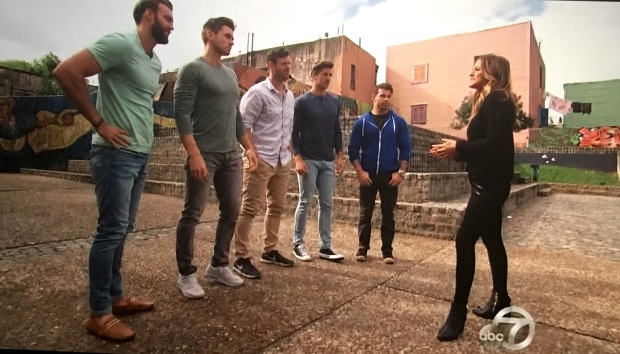 boys lines up bachelorette