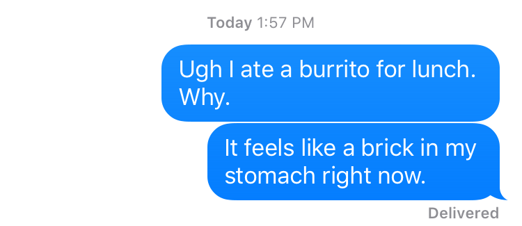 burrito for lunch