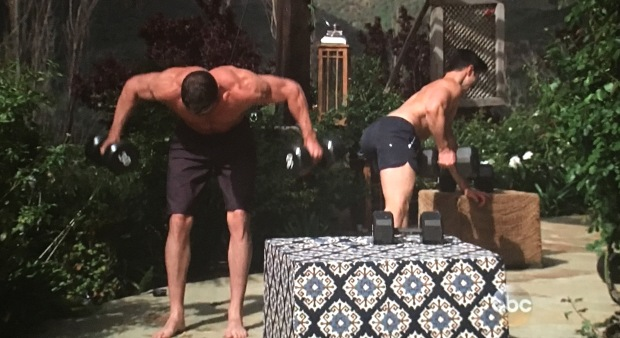 chad daniel working out bachelorette