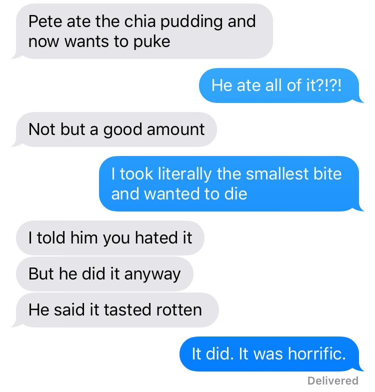 chia pudding taste
