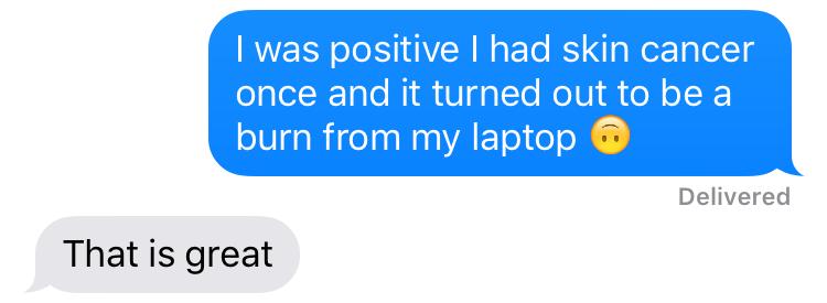 laptop burn skin cancer