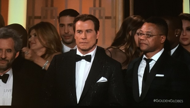 john travolta pinstripe suit golden globes sparkley .JPG