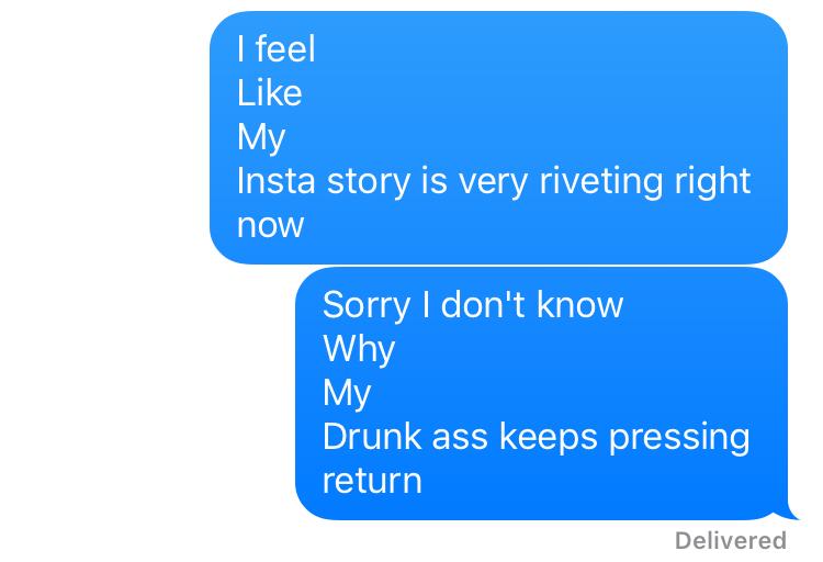 drunk text friend