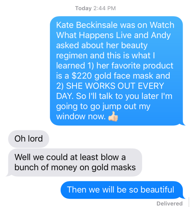 kate beckinsale beauty regimen