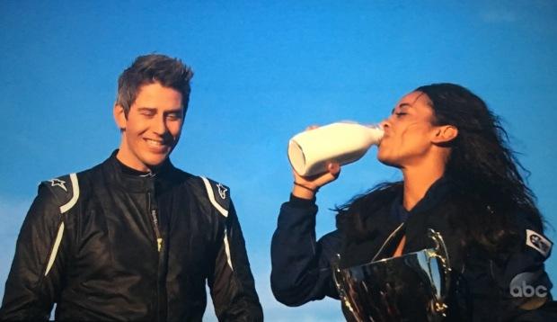 sienne chugging milk bachelor.JPG