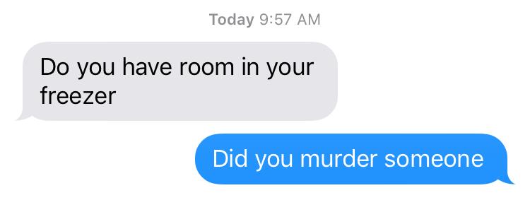 room in freezer