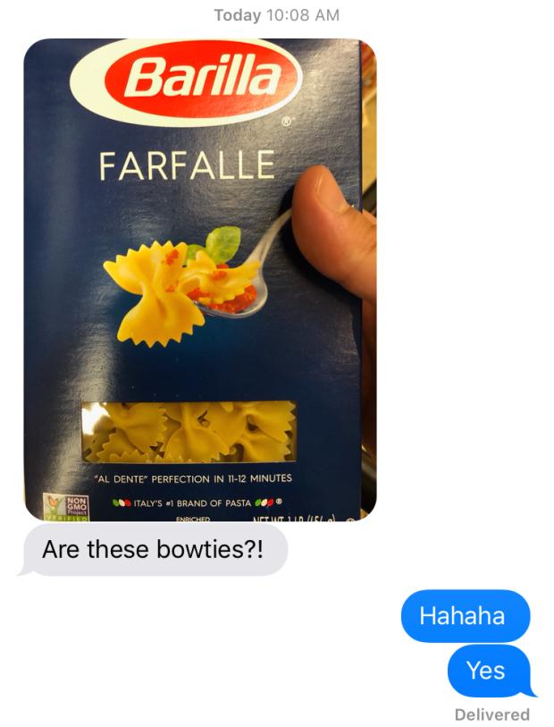 farfalle bowtie pasta